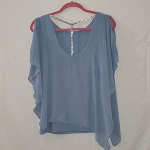 S Levine Blouse Sheer Layered